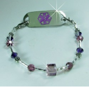 Plum Wonderful Medical Bracelet