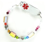 Rainbow Delight Medical ID Bracelet