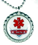 Red Grill Medical ID Necklace