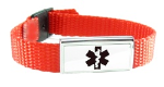 Red-Orange Medical Bracelet