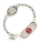 Sterling Silver Medallion Medical Bracelet