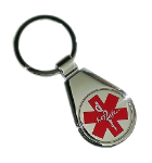 Chrome USB Key Ring