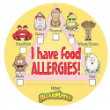 I Have Food Allergies Sticker for Kids