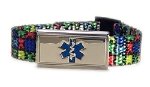 Autism Puzzle Medical ID Bracelet