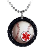 Baseball Medical Necklace-R