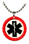 Red Cap 3 Necklace