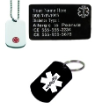 Combo Set Key Ring Necklace and Card Black EMS