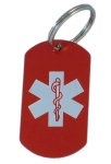 Medical Alert ID Keychain-RW