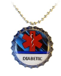 Diabetic Blue Streak Necklace
