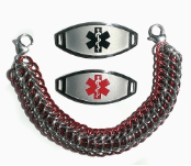Dragons Back Red Medical Bracelet