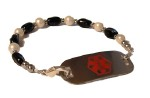 Ebony & Ivory Medical Alert ID Bracelet