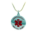 EMS Red Medical ID Necklace-187