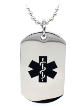EMS Black Star of Life Medical ID Necklace