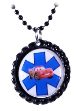 Fast Black Medical ID Necklace