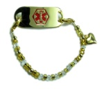 Heart of Gold Medical ID Bracelet
