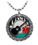 Guitar Medical ID Necklace 1