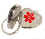Medical USB Heart Key Ring