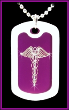 Hot Purple Medical ID Necklace