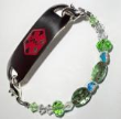 Girl's Lady Bug Medical Bracelet