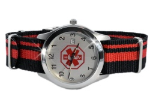 Adjustable Medical ID Watch 3647