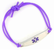 Purple Rubber Medical Bracelet