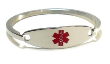 Stainless Steel Medical ID Bangle
