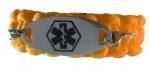 Durable Medical ID Bracelet Orange