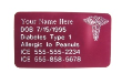 Pink Medical Wallet Card-CAD