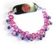 Pink Chainmail Medical ID Bracelet
