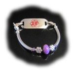Purple Bloom Medical ID Bracelet