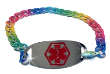 Rainbow Chain Medical ID Bracelet