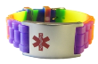 Kids Rainbow Medical ID Bracelet