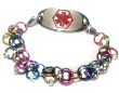 Rainbow Chainmail Medical ID Bracelet
