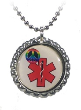 Red Peace Medical ID Necklace