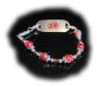 Strawberry Crackle Medical ID Bracelet