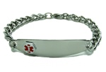 Stainless Medical Alert ID Bracelet