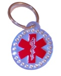 Medical Alert ID Keychain-SR