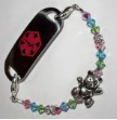 Girl's Teddy Bear Medical Bracelet
