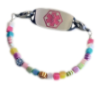 Tiny Flowers Medical ID Bracelet