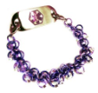 Two Tone Purple Chainmail Medical ID