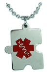 Autism Medical ID Necklace