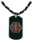 Black-Metal Medical Necklace
