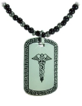 Black-Silver Medical Necklace