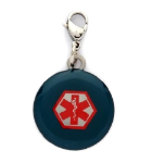 Blue Star of Life Medical Charm