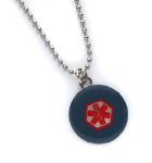 Blue Star of Life Medical Necklace