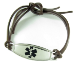 Brown Rubber Medical Bracelet
