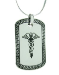 Caduceus Necklace with Snake Chain