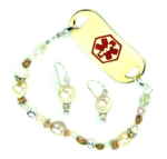 Chantilly Pearls Medical ID Set