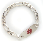 Figaro Men's Medical Alert ID Bracelet