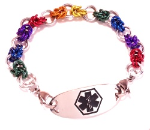 Half Byzantine Rainbow Medical ID Bracelet